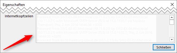E-Mail Internetkopfzeilen
