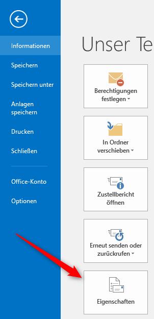 E-Mail Eigenschaften